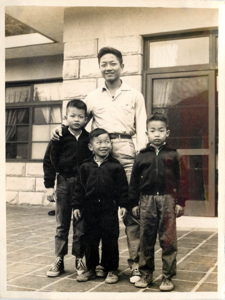 with Brothers in 1960 7